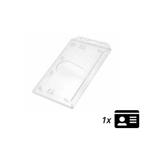 Fully Enclosed ID Card Holder - Portrait - Pack of 10