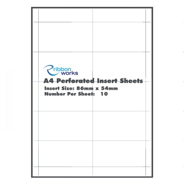 A4 Perforated Insert Sheets